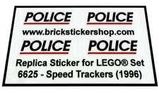 Precut Custom Replacement Stickers voor Lego Set 6625 - Speed Trackers (1996)