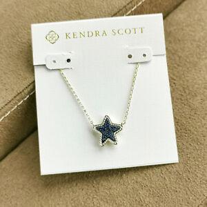 Kendra Scott Jae / Necklace Gold Blue Drusy NEW