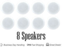 Quantity 8 Pyle PDIC61RD 200 Watts 6.5'' 2-Way In-Ceiling Speakers System