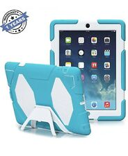 Travellor- iPad 2,3,4 Case, Shockproof Dirtproof Waterproof Snowproof (Blu/Wht)