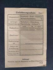 Einschreiben Einlieferungsschein (blanko) - wohl DDR 1970er Jahre