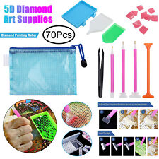 121pcs 5d Diamond Painting Accessories Tools Crafts LED Pen Stitch DIY Set