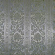 Brocade Jacquard Upholstery Fabric 5.5 Yards 48 In. Wide Ivory Blue Green Damask