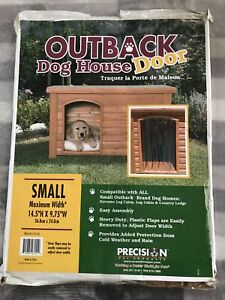 """Outback Plastic Doorway Cover For  Small Dog House Door Flaps 14.5"""" X 9.75"""""""