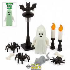 Ghost, spiders, rat, bat, candles - Monster Halloween haunted | All parts LEGO