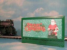 MERRY CHRISTMAS LIGHTED BILLBOARD #3 for LIONEL TRAINS & AF HOLIDAY LAYOUT * NEW