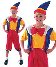 Childrens Kids Pinocchio Fancy Dress Costume Disney Childs Boys Outfit S