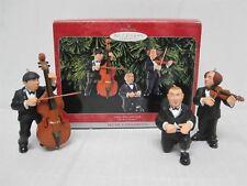 1998 HALLMARK THE THREE STOOGES LARRY MOE & CURLY CHRISTMAS ORNAMENTS ~ MIB!