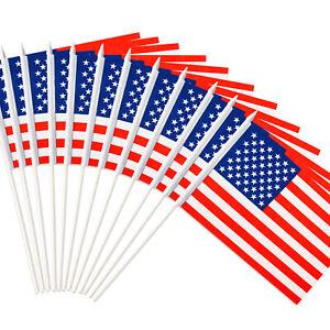Anley USA United States Mini Flag 12 Pack - Hand Held Miniature American US Flag