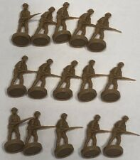 1984 - 1987 Axis & Allies Board Game Pieces - 15 Beige Infantry United Kingdom