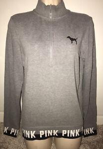 gray 1/4 zip sweatshirt victorias secret PINK size XS!