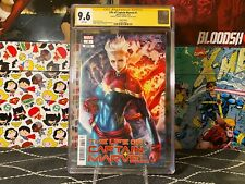 Life of Captain Marvel #1 (Variant) CGC 9.6 WP SS Signed by Artgerm Estate Sale!