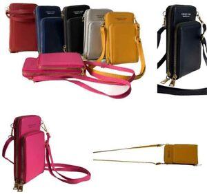 Ladies Messenger Bag Shoulder Cross Body Mobile phone Multi Pocket Travel Purse