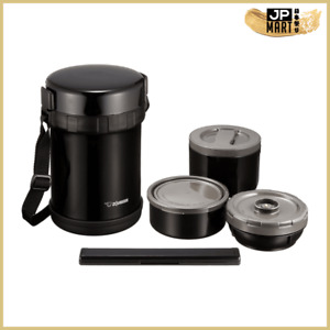 Zojirushi Three-layer Stainless Steel Insulated Food Container,Black
