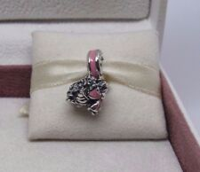 New w/Box  Pandora Pink Floral Bouquet Charm 791106EN24Breat Cancer Awareness