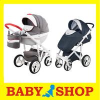 Kinderwagen ADAMEX Monte Deluxe Carbon  2in1  Kinderwagen + Sportwagen