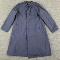 Eileen Fisher Womens Long Navy Blue Windbreaker Jacket Large Lined Stylish