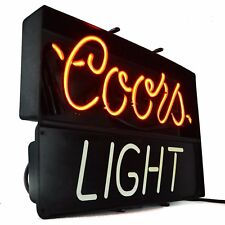 Coors Light Neon Sign Store Display Real Neon Beer Bar Pub Garage Sign