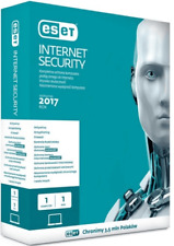 ESET INTERNET SECURITY 10.0 9.0 NOD32 antivirus 1year 3pc