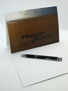 Thank you Greetings Card - A5 with white envelope - Blank inside - Photo Image
