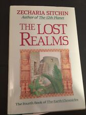 """""""THE LOST REALMS"""" *Zecharia Sitchin- *HB/DJ -SIGNED! 1990"""