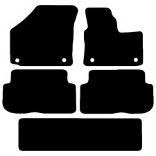 VW Touran 7 Seater 2006 - 2015 Fully Tailored Black Car Floor Mats Carpet 5pc
