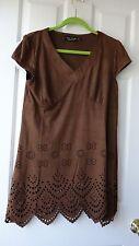 NEW TATA JOLIE BROWN WOMEN'S TUNIC DRESS sz. XL  DESIGNED IN USA