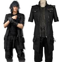 Final Fantasy XV Noctis Lucis Caelum Cosplay Kostüm Outfit FF 15 FF XV Schwarz