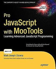 Pro JavaScript with MooTools by Mark Obcena (2010, Paperback, New Edition)