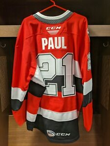 GAME ISSUED Nick Paul Belleville Senators RED Jersey - Size 58