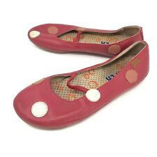 Camper Womens 36 Mary Jane Ballet Flat Red Polka Dot Leather US 5.5 - 6