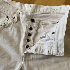 Imogene + Willie Mens 32 Willie straight jeans natural White Selvage Denim