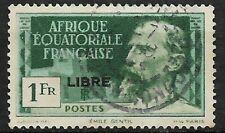 COLONIE FRANCAISE AEF AFRIQUE EQUATORIALE 1940 N°116 SURCHARGE LIBRE OBL/USED