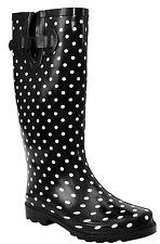 WOMENS LADIES WELLIES EXTRA WIDE 43 CM MAX CALF RAIN WELLINGTON WATERPROOF BOOTS