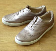 Hotter PIPER Ladies Mauve Metallic Leather Brogue Shoes UK 7 EU 41 US 9
