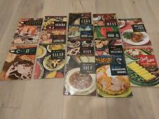 Lot Of 15 Vintage Recipe Books. 1953- 1954