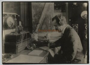 Vintage 1900s Italian Inventor Marconi Sends First Wireless Message Photo #3