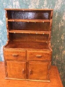 Vintage Art and Crafts Miniature Welsh Dresser