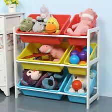 Kids Toy Organizer Storage Bin Box Wood Frame Shelf Rack Playroom Bedroom Us