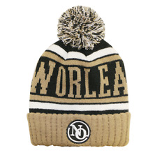 CityHunter New Orleans Saints Color Pom Pom Beanie Sideline Cuffed Knit Hat BRN