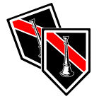 Thin Red Line One Straight Horn Decals Pack Of Two