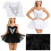Adult Women Dance Costume Swan Lake Ballet Tutu Leotard Dress Ballerina Skirts