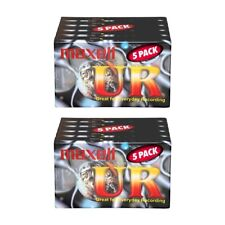 10 Pack of NEW Maxell UR90 90 Minutes Blank Audio Media Recording Cassette Tapes