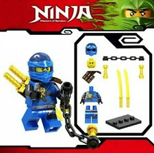 NEW Ninjago Blue Ninja Jay Spinjitzu Custom Lego Mini Figure Lloyd Kai Army Toy