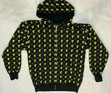 FAMOUS STARS & STRAPS HOODIE HOODED TOP ALLOVER PRINT F LOGO LARGE