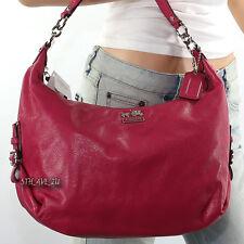 NWT Coach Madison Leather Hailey Shoulder Bag Crossbody Hobo Pink 18633 RARE
