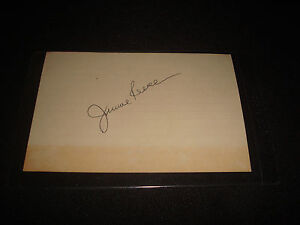 Babe Ruth Roommate Jimmie Reese 1930 Yankees Signed 4X6 Card PSA/DNA Auto 15B