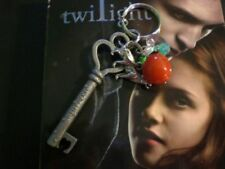 Twilight Vampire Love Wolf Heart Apple Large Antique Key Chain Ring