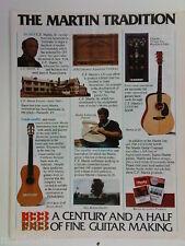 retro magazine advert 1983 MARTIN guitars / strings