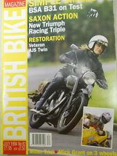British Bike Magazine, July 1994, BSA B31 on test, Saxon Action, AJS Twin, box 8